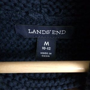 Lands' End Sweaters - Lands End Cowl Neck Ribbed Navy Sweater Size M A